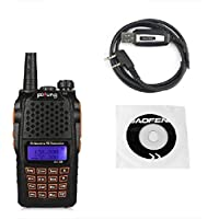 Baofeng Pofung 2015 UV-6R Dual-Band Two-Way Radio Transceiver 136-174/400-520MHz High Power 5W/1W, 65-108MHz FM Two-Way Radio + 1 Programming Cable