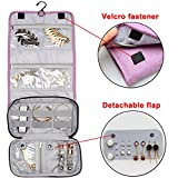 Teamoy Jewelry Roll Bag, Hanging Travel Jewelry