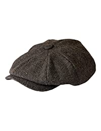'Shelby' Newsboy Grey Herringbone Cap By Gamble & Gunn Style of TV's Peaky Blinders