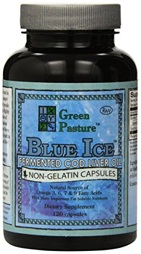 Blue ice fermented cod liver oil non gelatin capsules for Fermented fish oil
