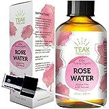 ROSE WATER TONER by Teak Naturals - 100% Organic Natural Moroccan Rosewater (Chemical Free) - 4 oz