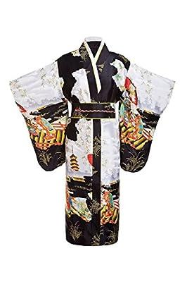 THY COLLECTIBLES Women's Silk Traditional Japanese Kimono Robe / Bathrobe / Party Robe