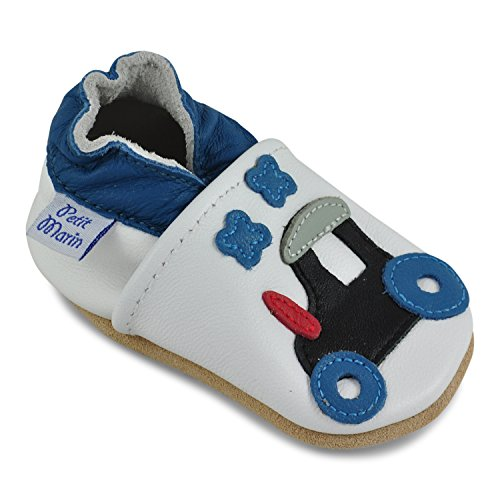 Petit Marin Beautiful Soft Leather Baby Shoes with Suede Soles – Toddler / Infant Shoes - Crib Shoes – Baby First Walking Shoes - Pre-walker Shoes - 40 Designs Soft Sole Crib Shoes