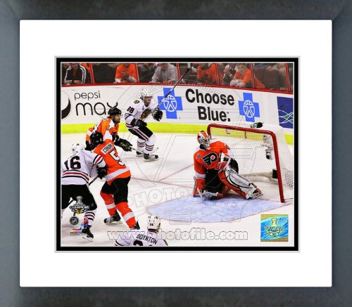 Patrick Kane 2010 Stanley Cup Game Winning Goal Framed Picture 8x10