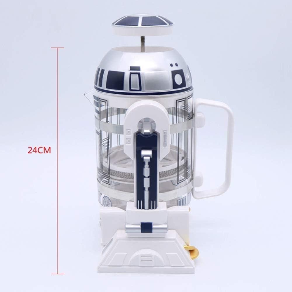 Star Wars Figuras de acción Modelo Vidrio Botella de almacenamiento de agua Robot Colección Cafetera Máquina Aislante Olla Ventilador- Incluye vidrio, 960ML / 32.5oz: Amazon.es: Hogar