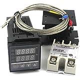 zmart デジタルサーモスタット リレー スイッチ 燻製 PID温度コントローラ+40A SSR +ヒートシンク+熱電対Kプローブ オリジナル日本語説明書つき