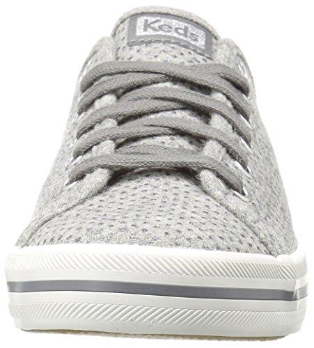 Keds Dames Kickstart Glitter Wol Fashion Sneaker Grijs