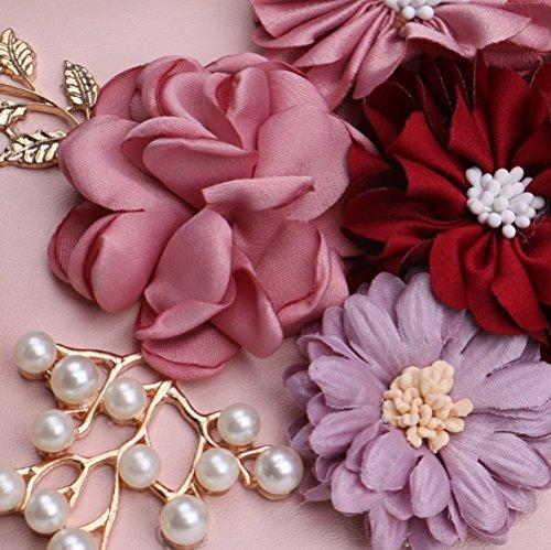 sera tracolla versatile Moda quadrata borsa a banchetto fiori piccola bianco sera da clutch donne da abito UdwqwI