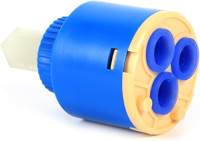 35mm GLOGLOW 35//40mm Pr/áctico V/álvula de Disco de Cer/ámica V/álvula de Disco V/álvula de Agua Caliente y Fr/ía Filtro Mezclador de Agua Grifo Controlador Interno