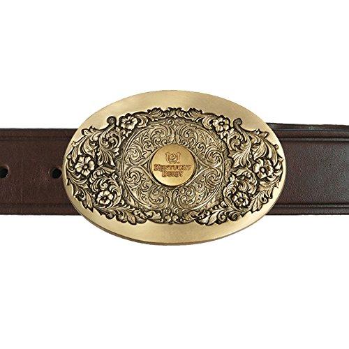 (Indiana Metal Craft Kentucky Derby Icon Emblem Western Frame Buckle Belt KBB303B 1.5