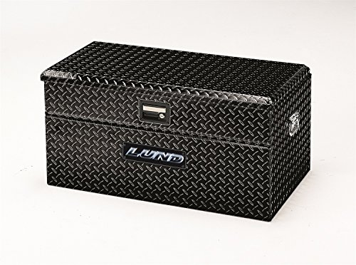 Lund 79436 36-Inch Aluminum Flush Mount Single Lid Truck Tool Box, Diamond Plated, Black