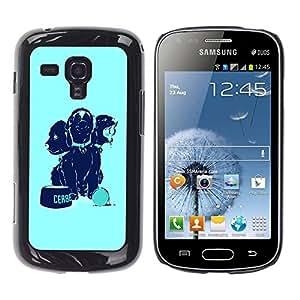 TopCaseStore / la caja del caucho duro de la cubierta de protección de la piel - Cool Funny Dogs Food Cute - Samsung Galaxy S Duos S7562