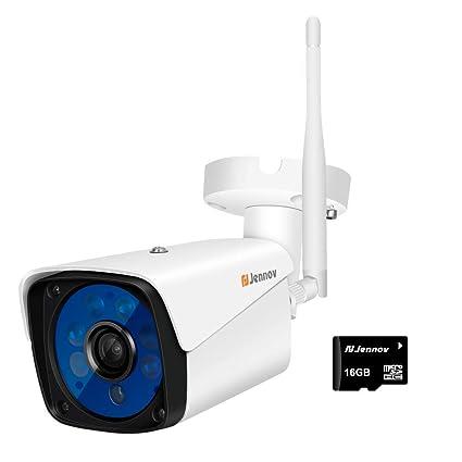 Cámara De Seguridad Inalámbrica, 720P Cámara Inalámbrica Con Wi-Fi Y Bala IP IP66