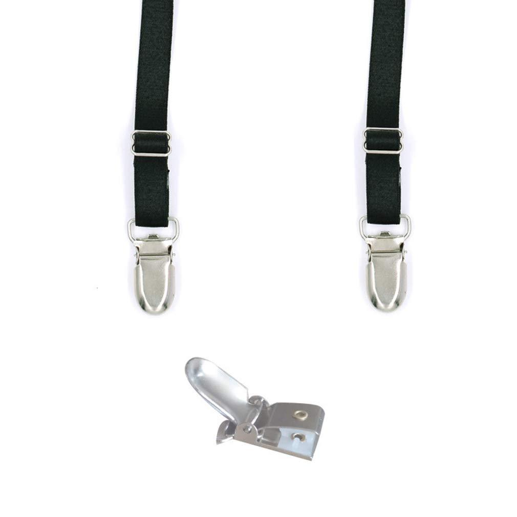 Mens Striped Shirt Stays Straps Adjustable Shirt Holder Garters/& Locking Clamps