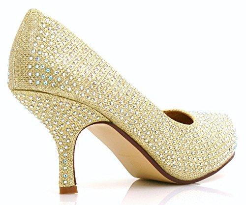 Basso Glitter Shimmer D Diamante Crazy Womens Partito Shu Serata Occasioni Elegante Tacco Ladies xq7ItTn0