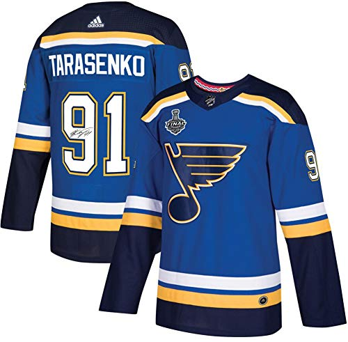 Vladimir Tarasenko St. Louis Blues Autographed Blue Adidas Authentic Jersey with 2019 Stanley Cup Final Patch - Fanatics Authentic Certified ()
