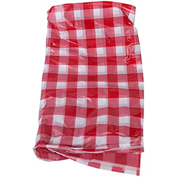 Best Brands Checkered Plastic Tablecloth, 3 Pack