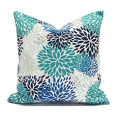 N/ A Blue Outdoor Pillows Outdoor Cushions Outdoor Pillow Covers Decorative Pillows Outdoor Cushion Covers Premier Blooms Blue Vista: Home & Kitchen