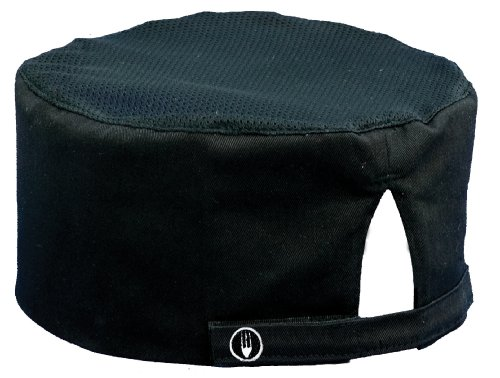 Chef Works Unisex Cool Vent Chef Beanie, Black One Size