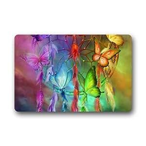 Colorful Dream Catcher Indoor / Outdoor Non-Slip Rubber Doormats Door Mat 23.6 x 15.7 Inch