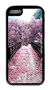 for iphone 6 4.7 Case Sakura Pink Flowers Nature TPU Custom for iphone 6 4.7 Case Cover Black