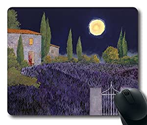 "Lavanda Di Notte Custom Rectangle Mouse Pad Oblong Gaming Mousepad in 220mm*180mm*3mm (9""*7"") -916037"