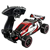 CR 2.4 GHz 1:20 Remote Control Racing Buggy Car Crazy Speed RC Off Road Truck with 4 Wheel Shock Absorbers Powerful Battery Aggressive Drifting/Stunts Car RTR