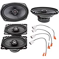 2001-2005 Pontiac Grand AM Complete Front Door and Rear Deck Factory Speaker Upgrade Package by Skar Audio