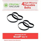 4 Long-Life Durable Bissell Style 8 & 14 Vacuum Cleaner Style 8 & 14 Belts, Pack of 2, Replaces Lift-Off Belt Part# 3200, Designed and Engineered by Think Crucial
