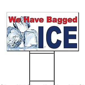 Hemos bolsa hielo rojo azul plástico corrugado Yard Sign/libre juego