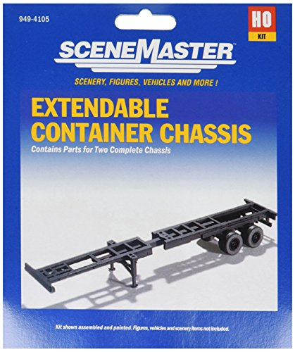 Container Scale Ho Walthers (Walthers, Inc. Extendible Container Chassis)