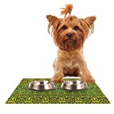 Kess InHouse Pom Graphic Design ''Animal Temple II'' Feeding Mat for Pet Bowl, 18 by 13-Inch