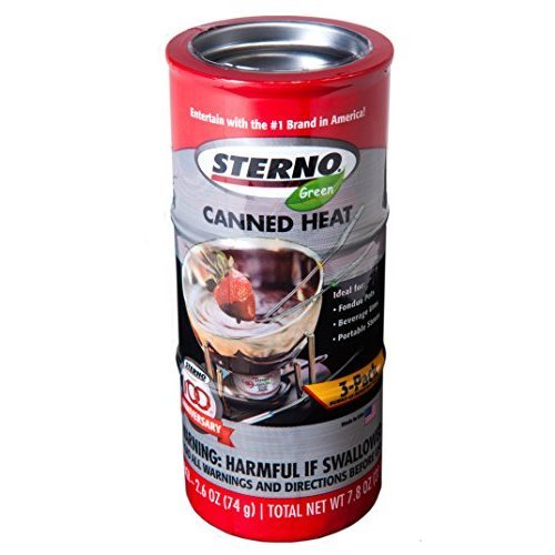 Sterno 2.6-Ounce Entertainment Cooking Fuel, 3-Pack ()