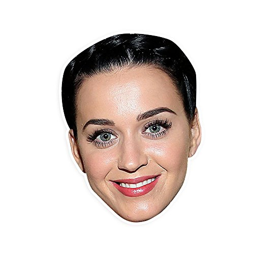 "[Happy Katy Perry Mask by RapMasks - 12"" x 9"" Waterproof Laminated] (Katy Perry Costumes For 10 Year Olds)"