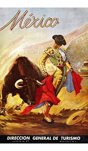 Matador. Mexico. Vintage Travel Tousm Print Poster Reproduction(16.75