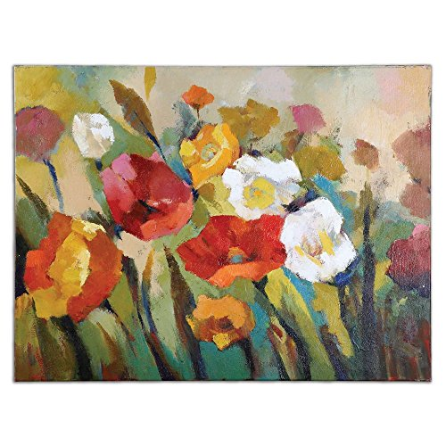 "Spring Has Sprung - Canvas Wall Art Hand Painted/Stretched Canvas/Wood Stretching Bars Dimensions: 48""W X 1.5""D X 36""H Weight: 22 Lbs"