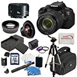 EOS Rebel T4i Digital Camera with EF-S 18-135mm f/3.5-5.6 IS STM Lens + Canon 50mm f/1.8 II Lens + Huge Accessory Package Including Wide Angle Macro Lens + 2x Telephoto Lens + 3 Pc Filter KIT + 16gb Sdhc Memory Card and Much More!!