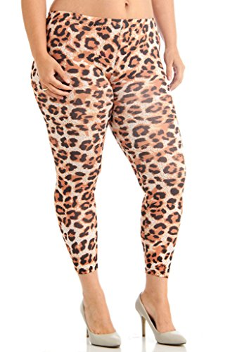 Dinamit Jeans Plus Size Ankle Length Cheetah Leggings 3X