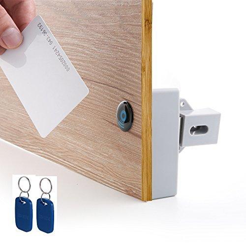 Cerradura eléctrica de armario escondida BestgoBest con identificación por radiofrecuencia (RFID), de fácil instalación,...