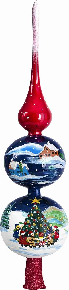 Joy To The World Metzler Brothers Christmas Dance Around Polish Glass Christmas Tree Topper New