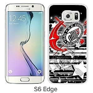 Corinthians White Samsung Galaxy S6 Edge Screen Cover Case Luxurious and Fashion Design