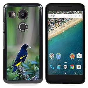 Eason Shop / Premium SLIM PC / Aliminium Casa Carcasa Funda Case Bandera Cover - Las plumas de pájaro tropical verde - For LG GOOGLE NEXUS 5X H790