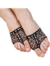 Leopard Print Belly/Ballet Dance Socks Dance Toe Pad Practice Shoes foot thong Protection