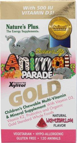 SOL Animal Parade d'Or-les Enfants du Multi-Vitamines Et de Minéraux Goût de Melon - 120 - Croquer