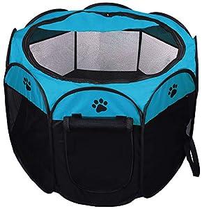 Coolty Tienda plegable de tela para mascotas, 8 paneles de juegos para mascotas, para perros, gatos, conejos y animales…