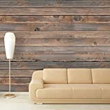 "fine bedroom accent wall wall26 Large Wall Mural - Seamless Wood Pattern | Self-Adhesive Vinyl Wallpaper/Removable Modern Decorating Wall Art - 100""x144"""