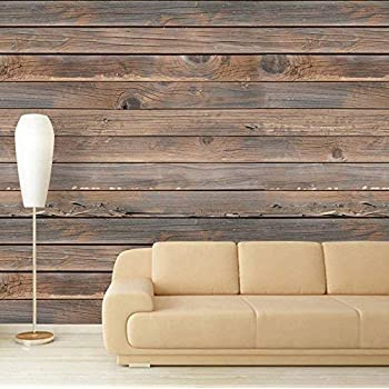 wall26 Large Wall Mural - Seamless Wood Pattern   Self-Adhesive Vinyl Wallpaper/Removable Modern Decorating Wall Art (100x144 inches, Artwork-109)