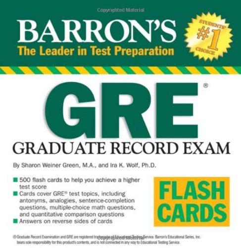 Barron's GRE Flash Cards