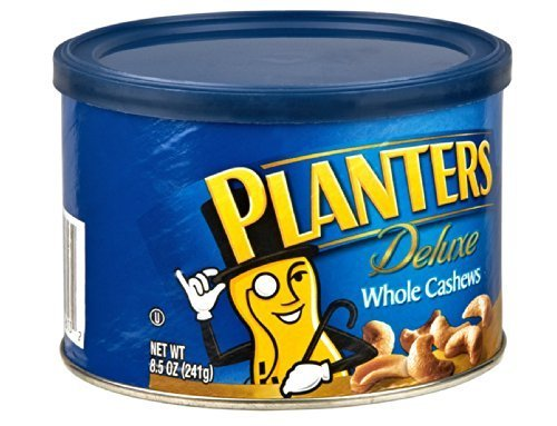 Planters Deluxe Whole Cashew, 8.5 Ounce -- 12 per case. by Planters
