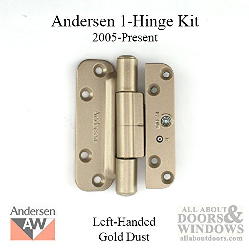 1 Hinge Kit, 2005-Present Andersen FWH Left Hand Door- Gold Dust